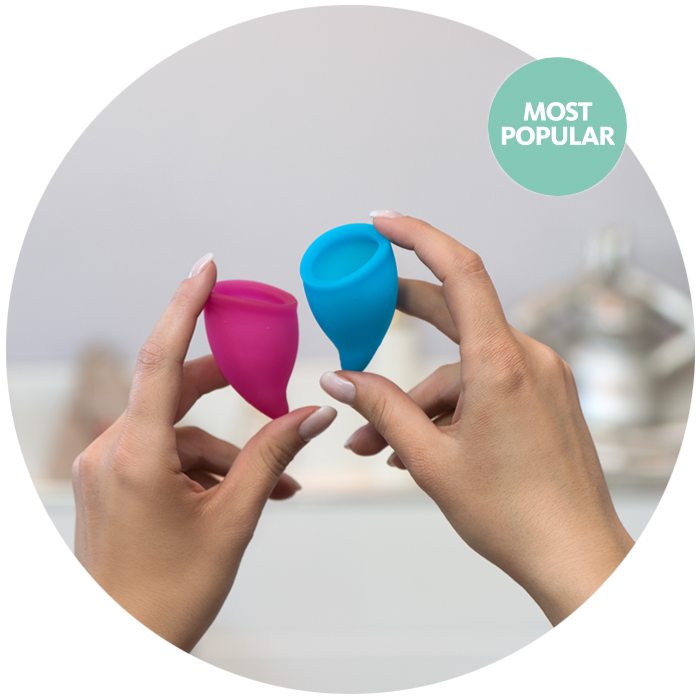 Menstruatie cup Fun Cup explore kit A + B